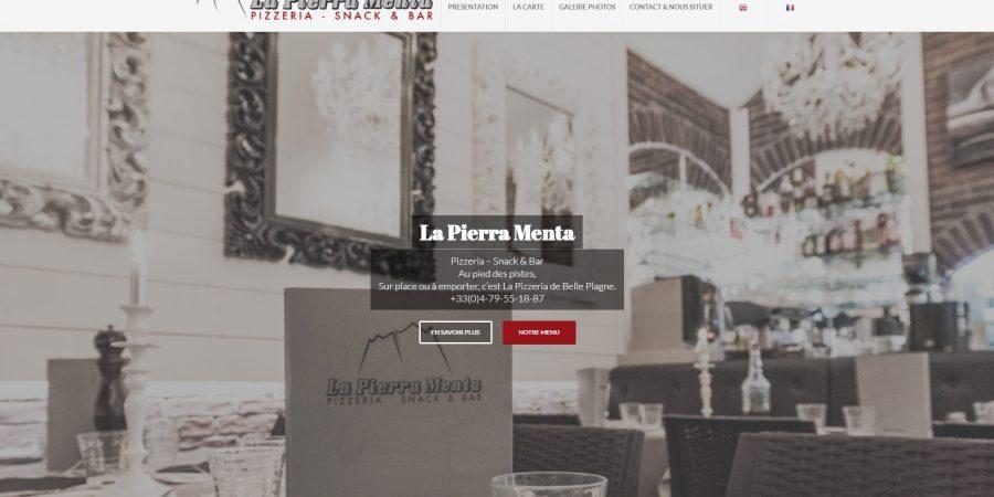 L'Agence VISTACOM accompagne le restaurant La Pierra Menta dans la refonte de son site WEB.